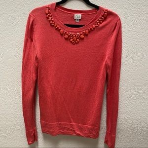 🔸 2 for $20 | Sweater with jeweled collar